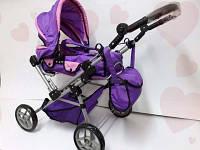 Коляска для кукол Melogo 9368/017 фиолетовая