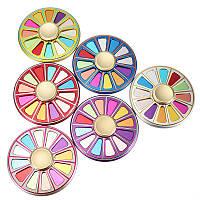 Авиационный алюминиевый сплав Цветная круглая цветовая палитра Finger Spinner