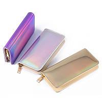 Многофункциональный Женское Лазер Кожаный длинный кошелек с бумагой Кошелек Телефон Сумка для телефона под 6,5 дюймов