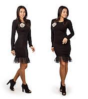Платья женские оптом (S M L) ангора вязка+фатин