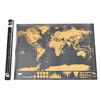World Edition Scratch Map Travel Footprint Творческий подарок Custom Deluxe Black Large Карта