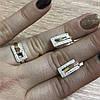 Серебряные серьги и кольцо с зотыми накладками.