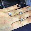 Кольцо и серьги серебряные.