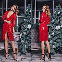 Женское Платье-пиджак в пайетках