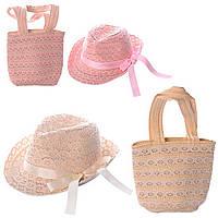 Детская Сумочка пляжная + шляпка, 2 цвета, X11546