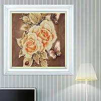 5D цветок бабочка Роза DIY Алмазная живопись вышивка крест стежка Домашнее украшение