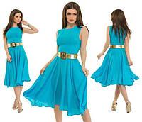 Женское платье голубое Турция
