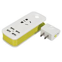 5V 2.1A Универсальный USB-штекер 4 порта USB Travel Strip Домашнее зарядное устройство для ноутбука Разъем
