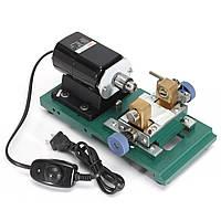 Drillpro 110V 200W DC 24V Мини-токарный станок Машина для обработки по дереву DIY Набор Set
