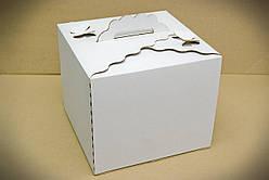 Картонна Коробка для торта, розмір 25х25х20 см