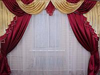 Готовый комплект шторы с ламбрекеном