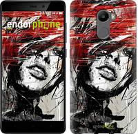 "Чехол на Xiaomi Redmi 4 Лицо девушки ""1162c-417-519"""