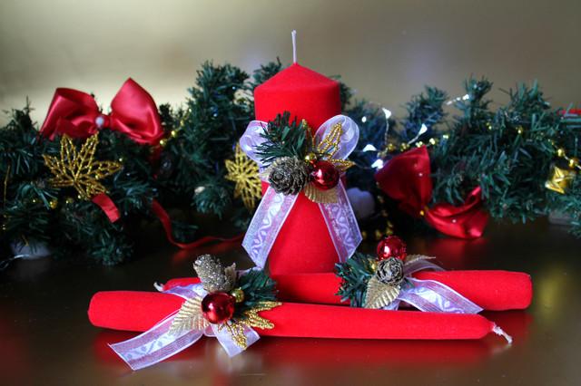 Новогодние свечи - незаменимый атрибут на праздничном столе!