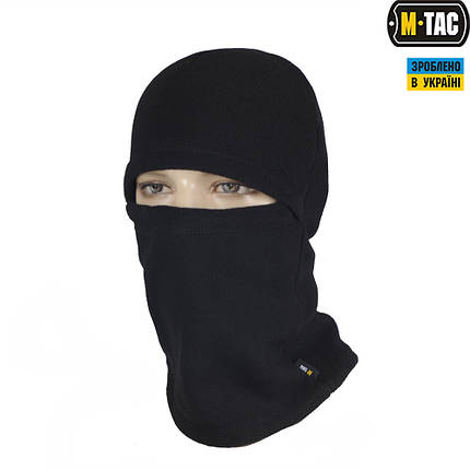 Балаклава универсальная флисовая (шапка, шарф, балаклава) чёрная, фото 2