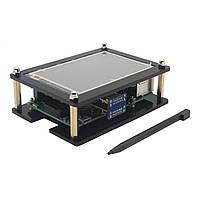 3,5 дюймов HD Сенсорный экран 480x320 @ 60 кадров в секунду + Акрил Чехол Набор Для Raspberry Pi 3 Model B/2 Model B