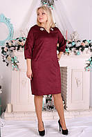Платье Selta  662 размеры 50, 52, 54, 56 бордо