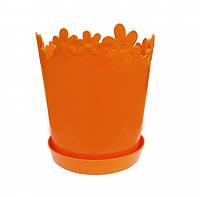 Вазон Лютік діаметр 13 см Світло-помаранчевий Алеана