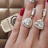 Кольцо и серьги серебряные