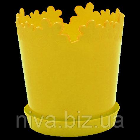 Вазон Лютік діаметр 13 см Темно-жовтий Алеана