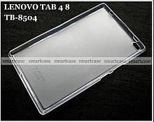 Силиконовый чехол для планшета Lenovo tab 4 8 TB-8504X противоударный полупрозрачный