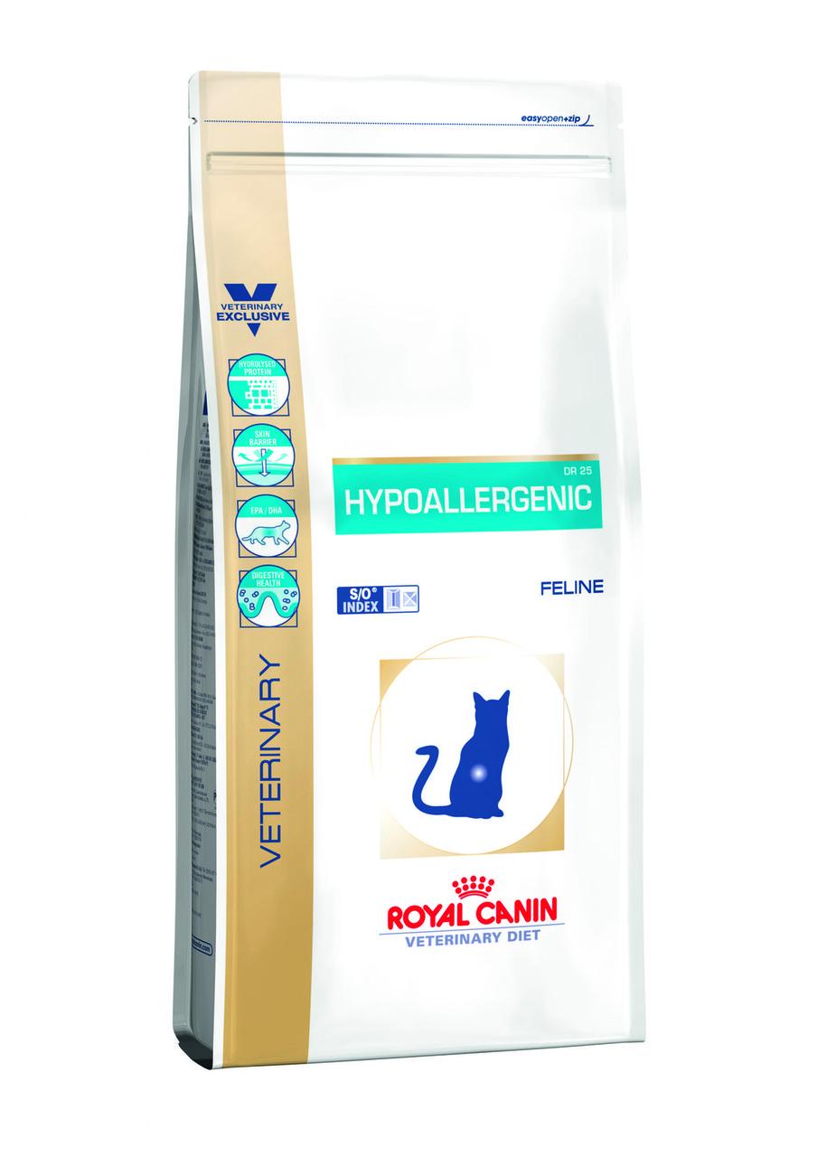 Royal Canin (Роял Канин) HYPOALLERGENIC CAT Сухой корм для кошек при пищевой аллергии, 2,5 кг