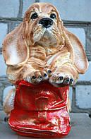 Копилка Собачка с портфелем 31 см. Сувенир, статуэтка.