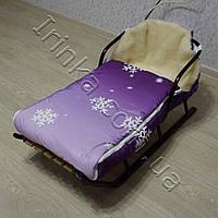 Матрасик меховой в санки, коляску Снежинка