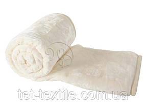 Плед акриловый с тиснением Elway молочный (160х210)