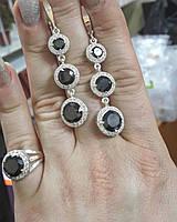 Кольцо и серьги серебряные, фото 1