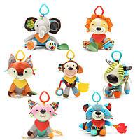 Baby Rattles Фаршированные игрушки Animal Носки Плюшевые погремушки с игрушкой для звонка для малышей Обучение