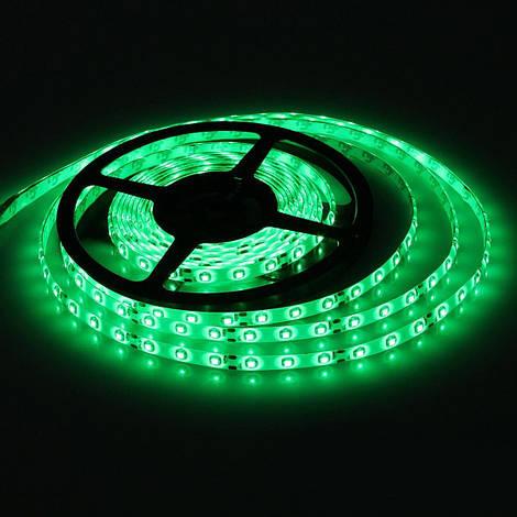 Светодиодная лента SMD 3528, 60 диодов/м, 12V, 4.8W/m, IP44, в силиконе, 5 метров, зеленая