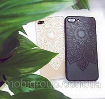 Винтажный пластиковый чехол с каучуковым бампером для iPhone 8 Plus
