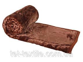 Плед акриловый с тиснением Elway коричневый (160х210)
