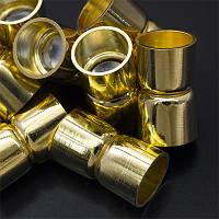 Застежка магнитная из латуни, колонка, цвет золото УТ0012786