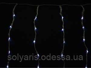 Гірлянда зовнішня DELUX біла дріт прозорий ( 2м*1,5м)