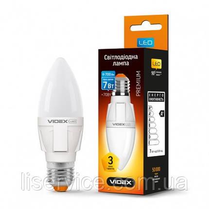 Светодиодная лампа VIDEX C37 7W E27 4100K 220V, фото 2