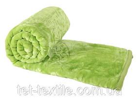 Плед акриловый с тиснением Elway салатовый (160х210)