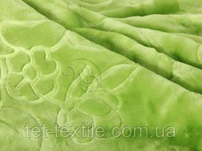 Плед акриловый с тиснением Elway салатовый (160х210), фото 2