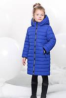 Удлиненная Зимняя Куртка для Девочки Электрик Р. 40 (162-168 см