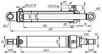 Гидроцилиндр ПЭ-Ф-1А; ПЭ-Ф-1БМ (ГЦ 100.60.500.22)