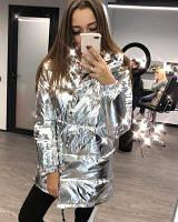 Серебряная Зимняя Куртка Зефирка