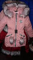 Курточка зимняя  для девочек с капюшоном, фото 1