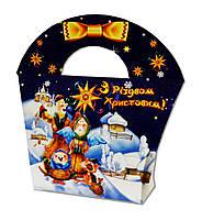 Подарочная новогодняя упаковка Сумочка Рождество 300 г