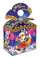 Новогодняя упаковка Бант Веселые зверята 500-600 г