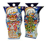 Подарочная новогодняя упаковка Снеговик 300-450 кг