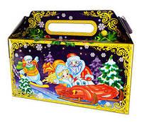 Подарочная новогодняя упаковка Волшебный сундучек 900 г