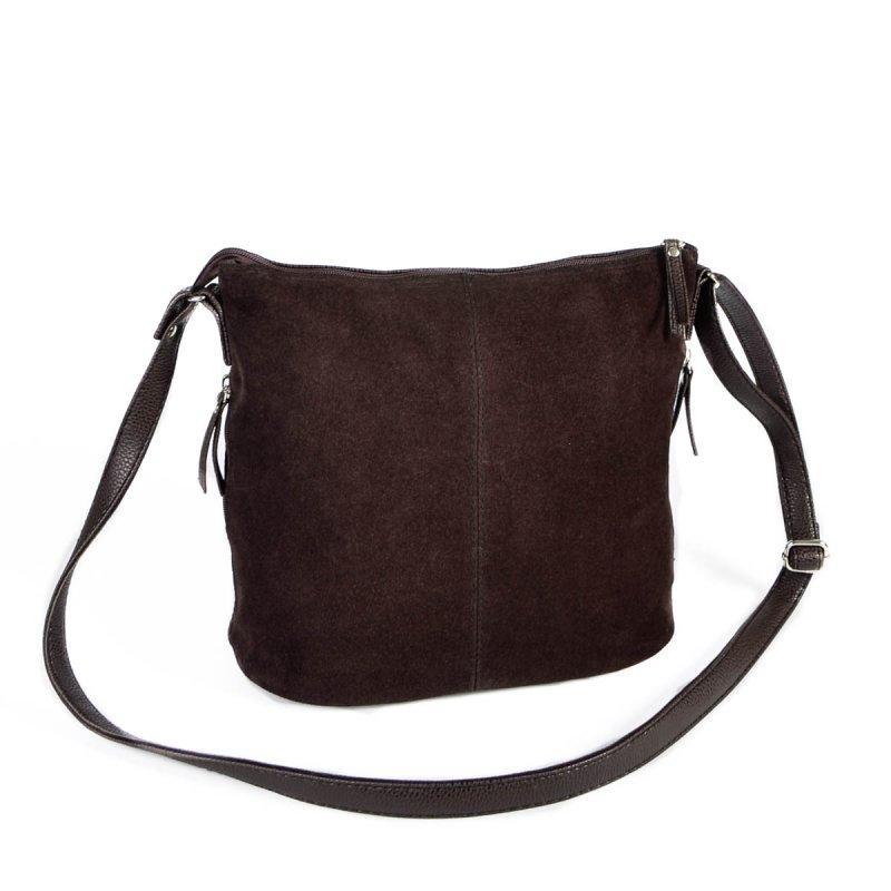 00d87ce77612 Коричневая замшевая сумка на плечо М78-замш/40 женская на молнии - Интернет  магазин