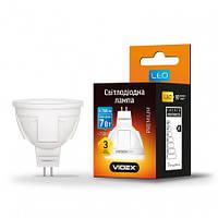 Светодиодная лампа VIDEX MR16 7W GU5.3 4100K 220V