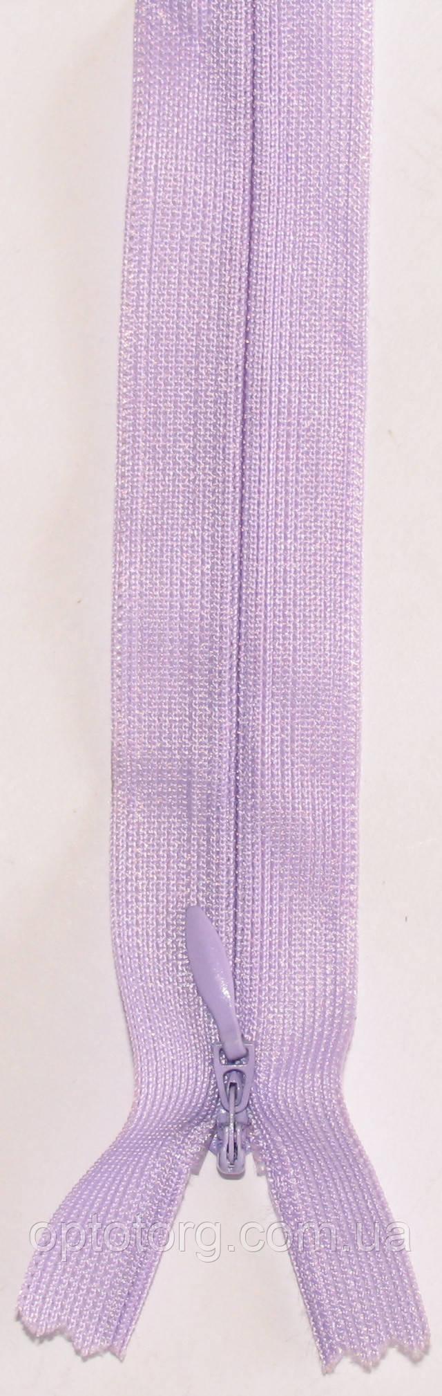 Потайная молния 50см неразъемная светло фиолетового цвета оптом от optotorg.com.ua