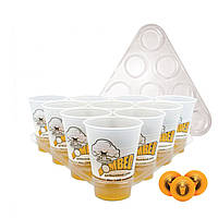 Пивные игрушки для питья для пинг-понга Набор 20 чашек 3 шара 2 стойки Рождественский паб-паб для барбекю
